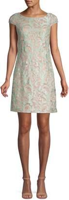 Eliza J Embroidered Shift Dress