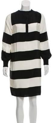 Marc Jacobs Silk Striped Dress