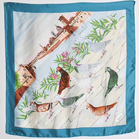 Gucci Amarcord Vintage Fashion Birds of Florence Scarf