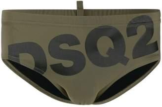 logo print swimming trunks