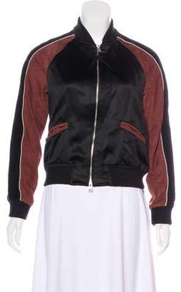 AllSaints Suede-Accented Bomber Jacket