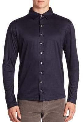 Saks Fifth Avenue COLLECTION Cotton Blend Button-Down Shirt