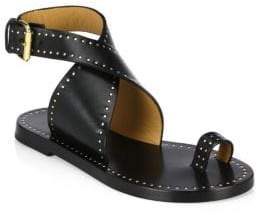 Isabel Marant Jools Studded Wrap Leather Sandals