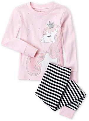 Pl Sleep (Toddler Girls) Two-Piece Unicorn PJ Set