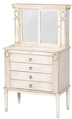ACME Furniture Leven Jewelry Armoire, Antique White