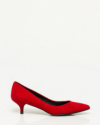 Le Château Suede Pointy Toe Pump