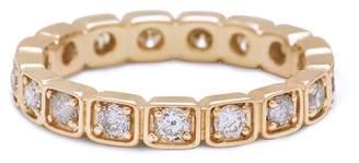 Anna Sheffield White Diamond Melee Wheat Eternity Band Ring - Yellow Gold