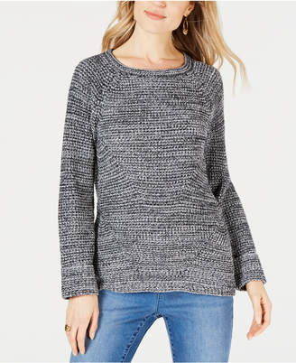 Style&Co. Style & Co Scoop-Neck Marled Sweater