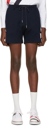 Thom Browne Navy Summer Shorts $390 thestylecure.com