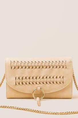 francesca's Carys Whipstitch Wallet Crossbody - Black