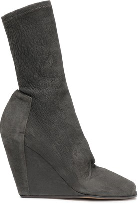 Rick Owens Stretch-suede Wedge Boots