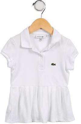 Lacoste Girls' Appliqué-Accented Short Sleeve Dress