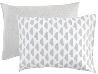 Hudson Baby Toddler Pillow Case, 2-Pack, Heather Gray/Cloud