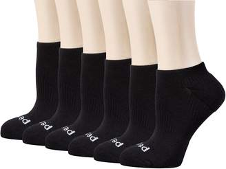 Peds Women's Coolmax Low Cut Sock with X-Wrap Arch Support, 6 Pairs