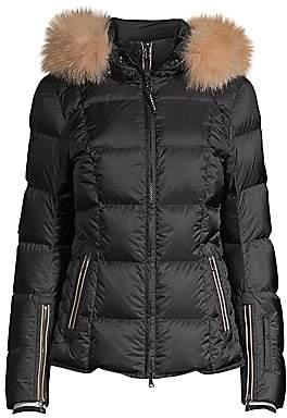 Bogner Women's Sanne-D Fox Fur Trim Quilted Coat