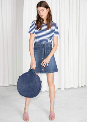 And other stories A-Line Denim Mini Skirt