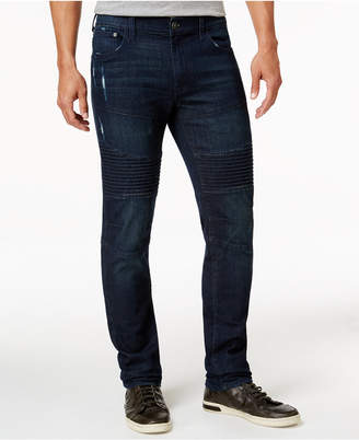 Ring of Fire Men's Slim-Fit Stanley Ronto Wash Ripped Moto Jeans, Only at Macy's $50 thestylecure.com