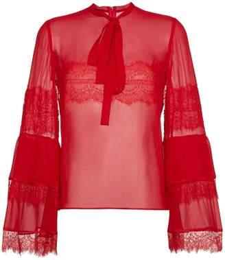 Giambattista Valli silk lace blouse