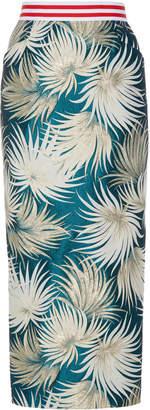 Stella Jean High-Waisted Cotton-Blend Pencil Skirt