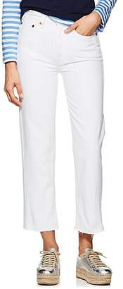 RE/DONE Women's High Rise Stovepipe Crop Jeans - White