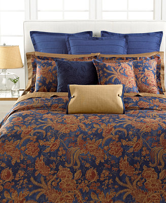 CLOSEOUT! Lauren Ralph Lauren Bedding, Indigo Bali King Duvet Cover