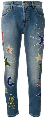 P.A.R.O.S.H. regular appliqué jeans
