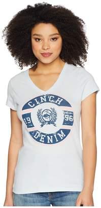 Cinch Cotton Jersey Short Sleeve V-Neck Women's Clothing