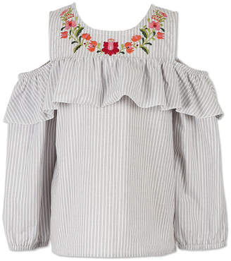 Speechless Cold Shoulder Ruffle Top - Girls' 7-16