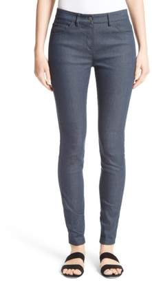 St. John Stretch Denim Slim Ankle Pants