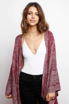 Free People Ribbed Knit Cut Out Cami Bodysuit