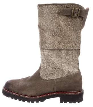 Penelope Chilvers Ponyhair Mid-Calf Boots
