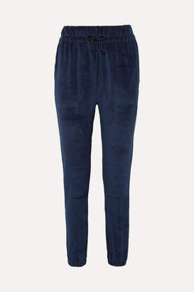 Base Range Baserange - Al Organic Cotton-velour Track Pants - Midnight blue