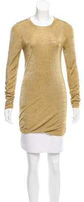 Michael Kors Metallic Long Sleeve Top