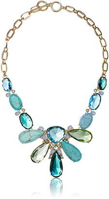 Carolee Turquoise Garden Collection Women's 18 inches Ombre Stone Statement Necklace