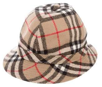 Burberry Vintage House Check Cloche Hat