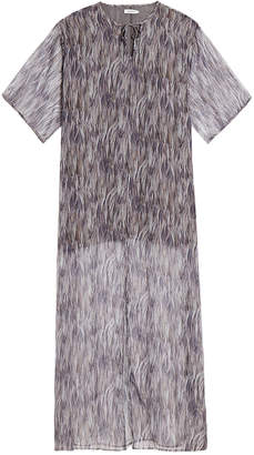 J. Lindeberg Layla Feather Print Maxi Kaftan Dress