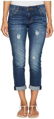 KUT from the Kloth Petite Catherine Boyfriend in Allowing/Dark Stone Women's Jeans