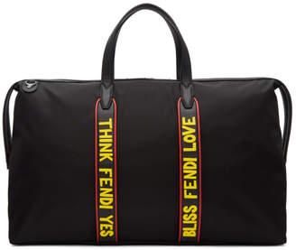 Fendi Black Nylon Vocabulary Duffle Bag