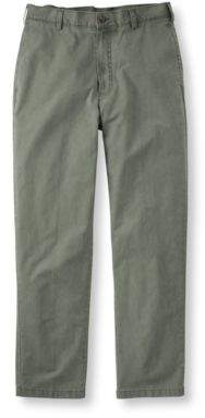 L.L. Bean L.L.Bean Tropic-Weight Chino Pants, Natural Fit Plain Front