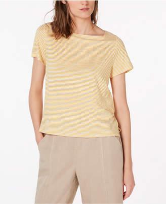Eileen Fisher Organic Linen Striped Top, Regular & Petite