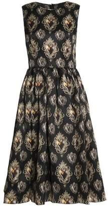 Dolce & Gabbana Printed Silk-Blend Organza Midi Dress