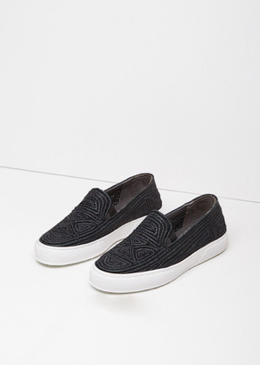 Robert Clergerie Tribal Raffia Slip-On $450 thestylecure.com