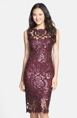 Tadashi Shoji Sequin Illusion Lace Dress (Regular & Petite) $298 thestylecure.com