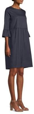 Max Mara Ruffle-Cuff Shift Dress