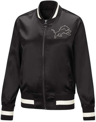 Touch by Alyssa Milano Women Detroit Lions Touch Satin Bomber Jacket