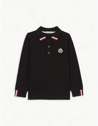 Moncler Tipped cotton polo shirt 4-14 years