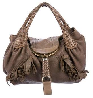 45032091a937 ... sale pre owned at therealreal fendi ruffle accented spy bag 5ec8c 6a880