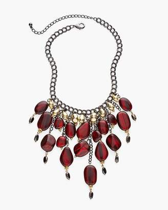 Chico's Chicos Red and Gold-Tone Bib Necklace