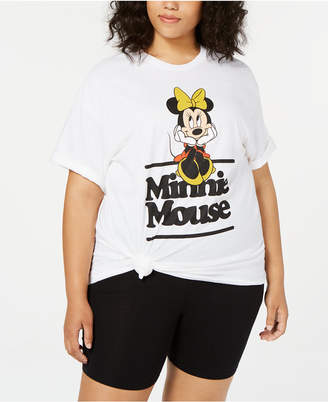 Mighty Fine Trendy Plus Size Cotton Minnie Mouse Graphic T-Shirt