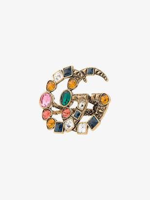 Gucci GG crystal embellished ring